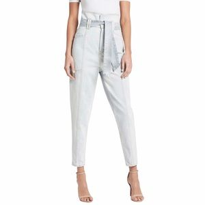 IRO Vieno Super High Waist Paperbag Tapered Belted Trouser Jeans